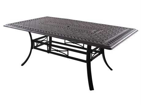 Darlee Outdoor Living Series 88 Cast-Aluminum Antique Bronze 72 x 42 Rectangular Dining Table