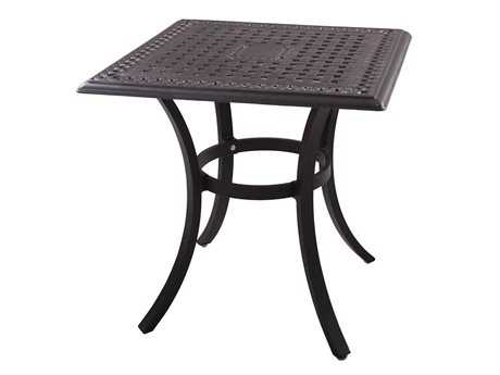Darlee Outdoor Living Series 88 Cast Aluminum Antique Bronze 28 Square Dining Table
