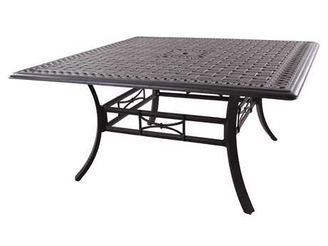 Darlee Outdoor Living Series 88 Cast Aluminum Antique Bronze 60 Square Dining Table