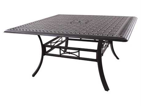 Darlee Outdoor Living Series 88 Cast Aluminum Antique Bronze 60 Square Counter Height Dining Table