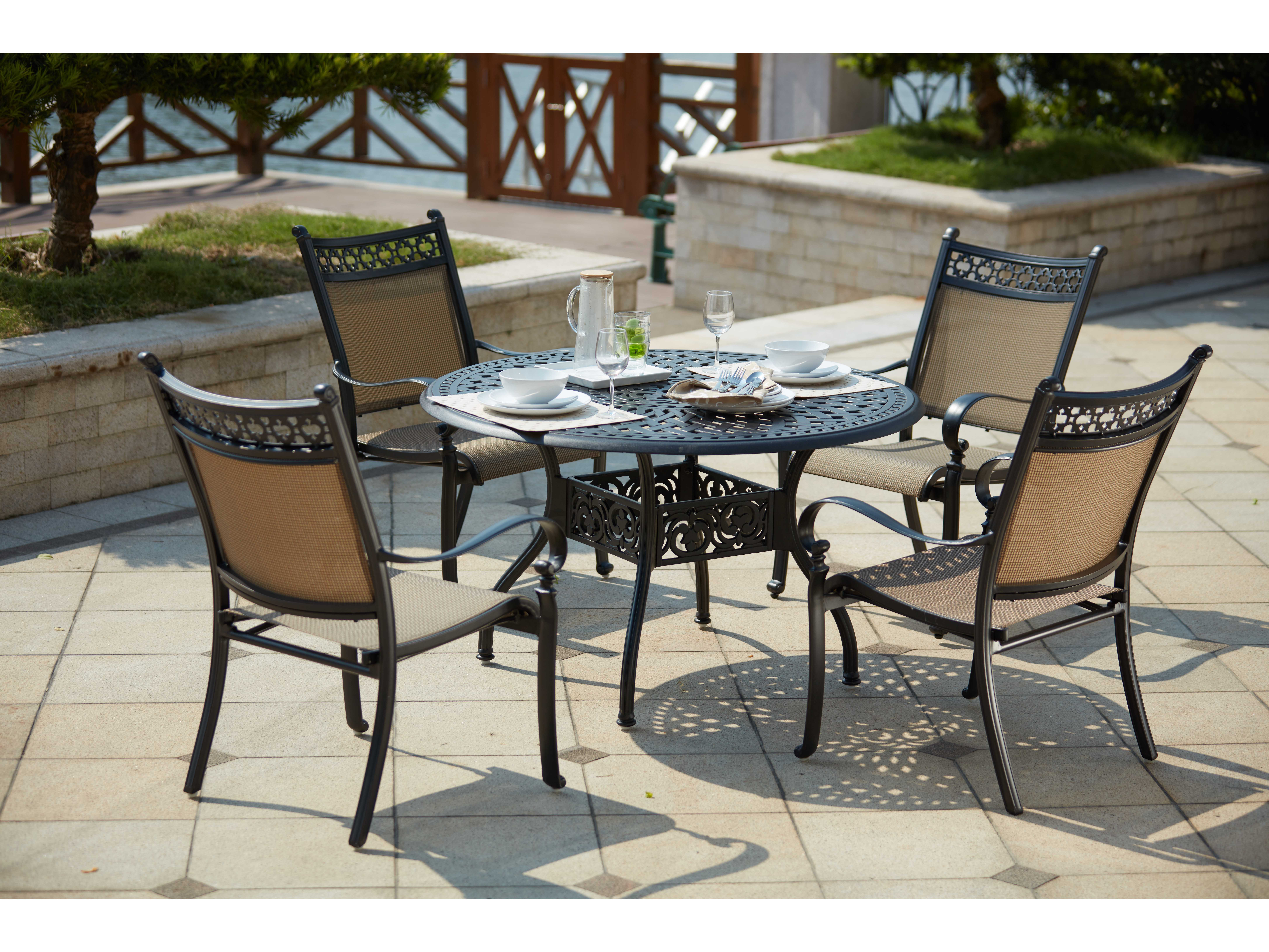Darlee Outdoor Living Standard Mountain View Cast Aluminum 5 Piece