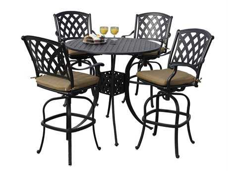 Darlee Ocean View Cast Aluminum Bar Set