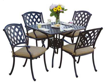 Darlee Ocean View Cast Aluminum Dining Set