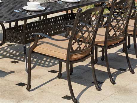 Darlee Outdoor Living Standard Madison Cast Aluminum Dining Chair in Antique Bronze PatioLiving