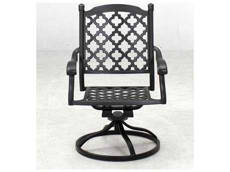 Darlee Outdoor Living Standard Madison Cast Aluminum Swivel Rocker Chair in Antique Bronze PatioLiving