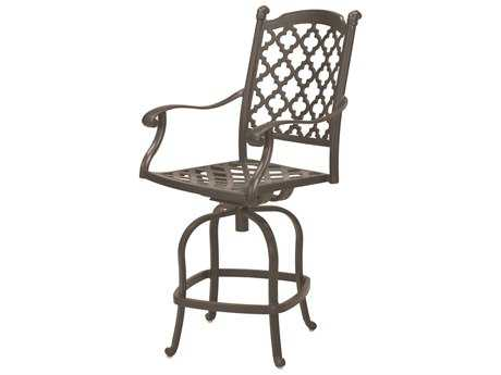 Darlee Outdoor Living Standard Madison Cast Aluminum Counter Height Swivel Bar Stool in Antique Bronze