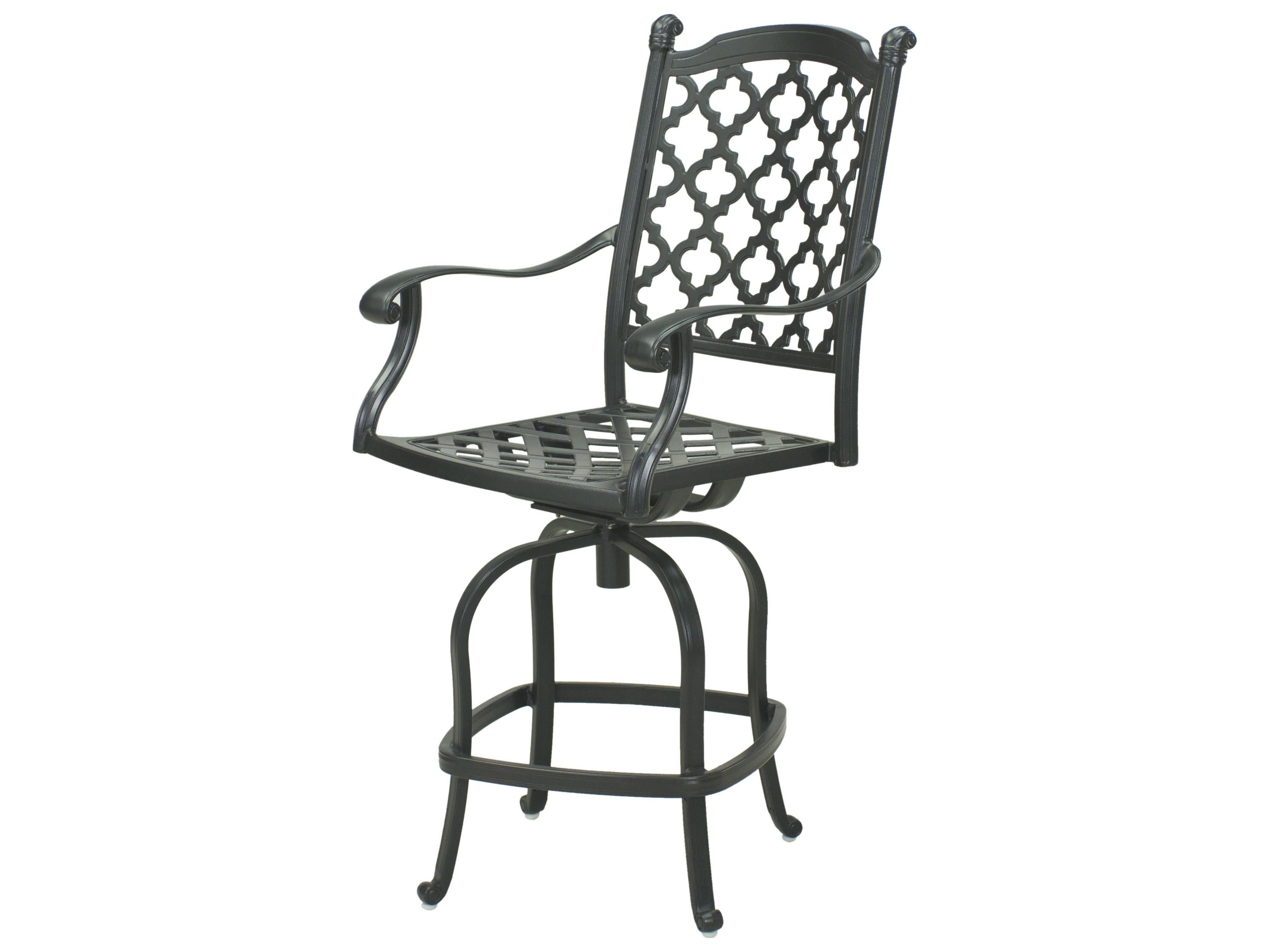 darlee outdoor living standard madison cast aluminum counter height swivel bar stool in antique. Black Bedroom Furniture Sets. Home Design Ideas