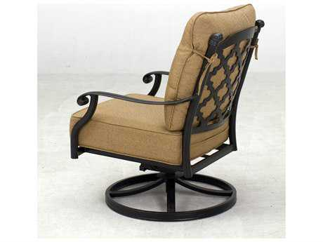 Darlee Outdoor Living Standard Madison Cast Aluminum Swivel Rocker Club Chair in Antique Bronze PatioLiving