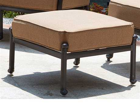 Darlee Outdoor Living Standard Madison Cast Aluminum Ottoman in Antique Bronze PatioLiving