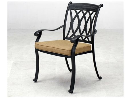 Darlee Outdoor Living Quick Ship Capri Cast Aluminum Dining Chair