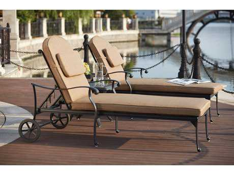 Darlee Outdoor Living Standard Capri Cast Aluminum 3-Piece Lounge Set with 24 Inch Square End Table in Antique Bronze