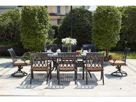 Darlee Outdoor Living Standard Capri Patio Dining Set in Antique Bronze PatioLiving