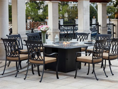 Darlee Outdoor Living Standard Capri Patio Dining Set in Antique Bronze