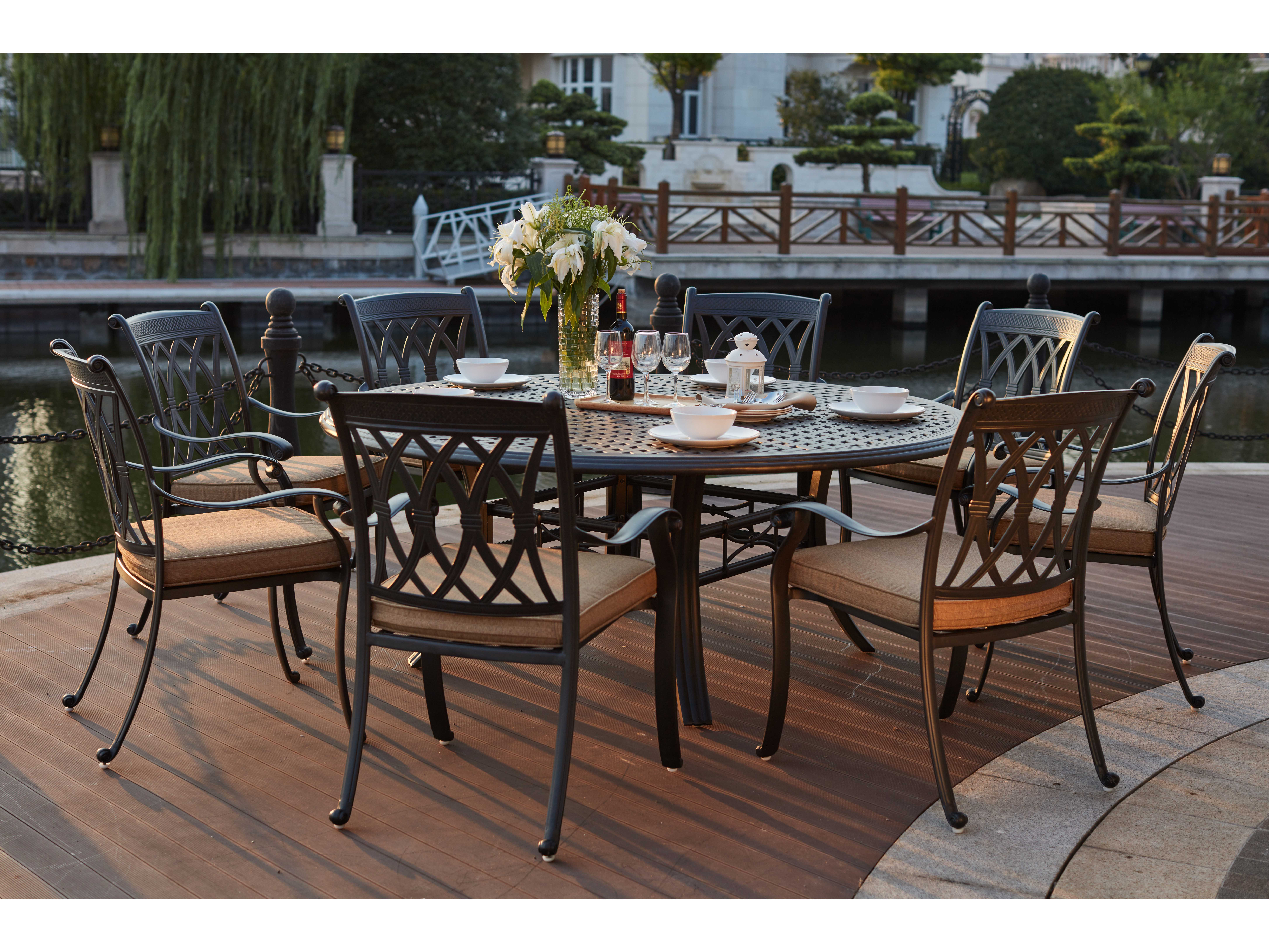 Darlee 9 piece patio dining set chairs amp seating