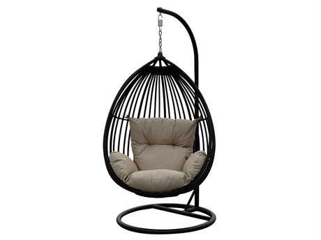 Darlee Outdoor Living Quick Ship Tear Drop - Shaped Swing Chair / Cushion
