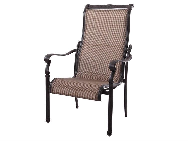 Darlee Outdoor Living Standard Monterey Cast Aluminum Antique Bronze Dining Chair