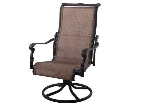 Darlee Outdoor Living Standard Monterey Cast Aluminum Antique Bronze Swivel Rocker Chair PatioLiving