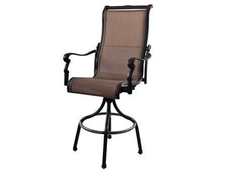 Darlee Outdoor Living Quick Ship Monterey Cast Aluminum Antique Bronze Swivel Bar Stool