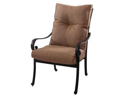 Darlee Outdoor Living Standard Santa Anita Replacement Dining Chair Seat and Back Cushion PatioLiving