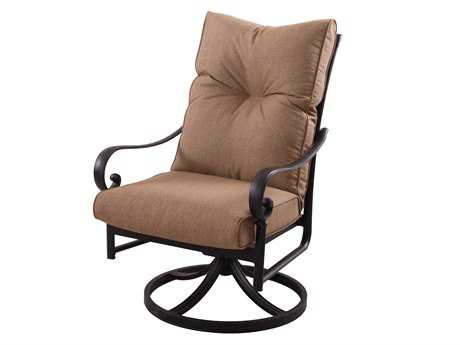 Darlee Outdoor Living Standard Santa Anita Cast Aluminum Antique Bronze Swivel Rocker Chair