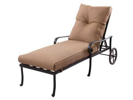 Darlee Outdoor Living Standard Santa Anita Cast-Aluminum Antique Bronze Chaise Lounge PatioLiving