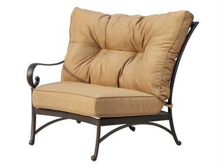 Darlee Outdoor Living Standard Santa Anita Cast Aluminum Antique Bronze Sectional Left-Facing Arm Chair