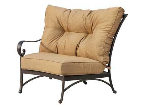 Darlee Outdoor Living Standard Santa Anita Replacement Crescent Sectional Left-facing Arm Chair Seat and Back Cushion PatioLiving