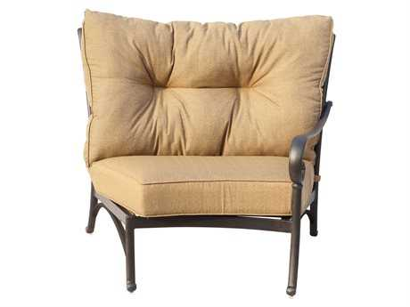 Darlee Outdoor Living Standard Santa Anita Replacement Crescent Sectional Right-facing Arm Chair Seat and Back Cushion PatioLiving