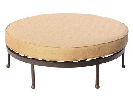 Darlee Outdoor Living Standard Santa Anita Replacement Round Cocktail Ottoman Cushion PatioLiving
