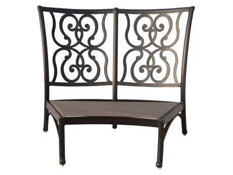 Darlee Outdoor Living Standard Santa Anita Cast Aluminum Antique Bronze Sectional Center Armless Chair