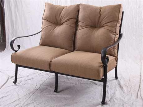 Darlee Outdoor Living Standard Santa Anita Replacement Loveseat Seat and Back Cushion PatioLiving