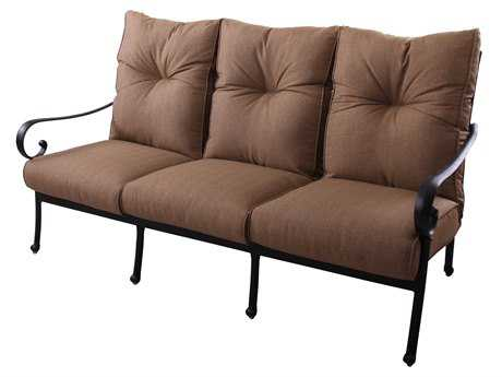 Darlee Outdoor Living Standard Santa Anita Cast Aluminum Antique Bronze Sofa PatioLiving