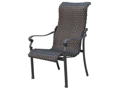 Darlee Outdoor Living Standard Victoria Wicker Espresso Dining Chair