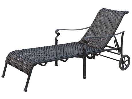 Darlee Outdoor Living Standard Victoria Wicker Espresso Chaise Lounge