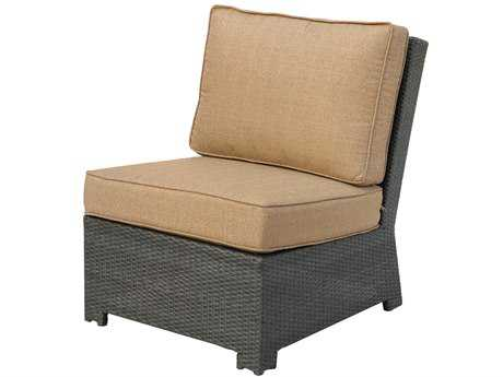 Darlee Outdoor Living Standard Vienna Wicker Espresso Sectional Center Lounge Chair