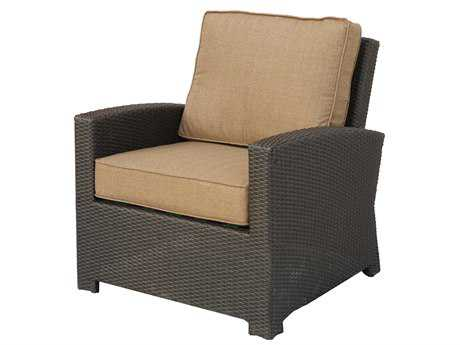 Darlee Outdoor Living Vienna Wicker Espresso Club Chair