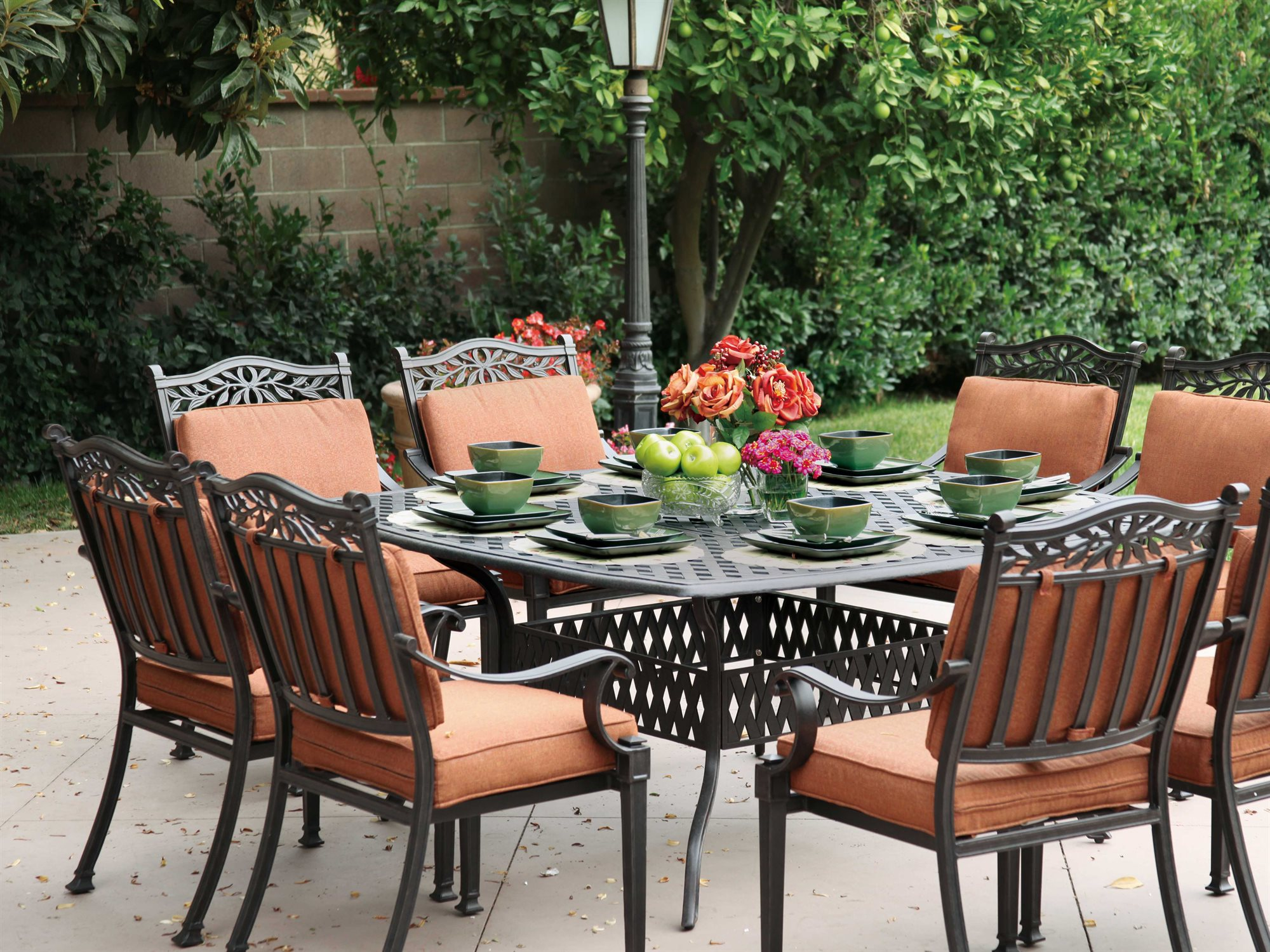 Fantastic Darlee Outdoor Living Standard Charleston Cast Aluminum Dining Set Interior Design Ideas Inesswwsoteloinfo
