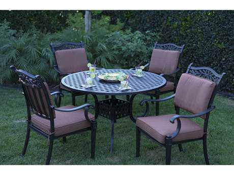 Darlee Outdoor Living Standard Charleston Cast Aluminum Dining Set PatioLiving