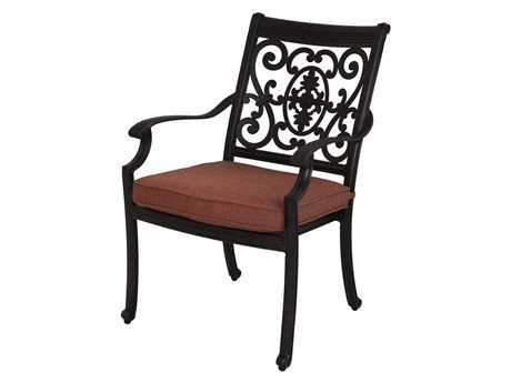 Darlee Outdoor Living Standard St. Cruz Cast Aluminum Antique Bronze Dining Arm Chair
