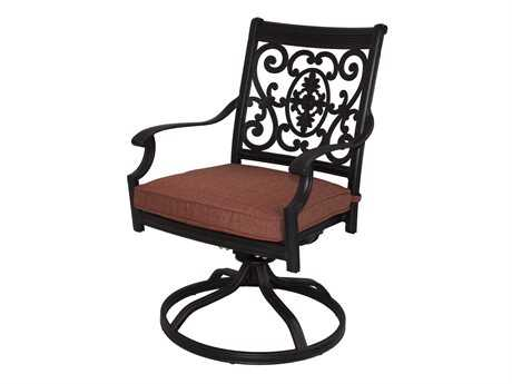 Darlee Outdoor Living Standard St. Cruz Cast Aluminum Antique Bronze Swivel Rocker Chair