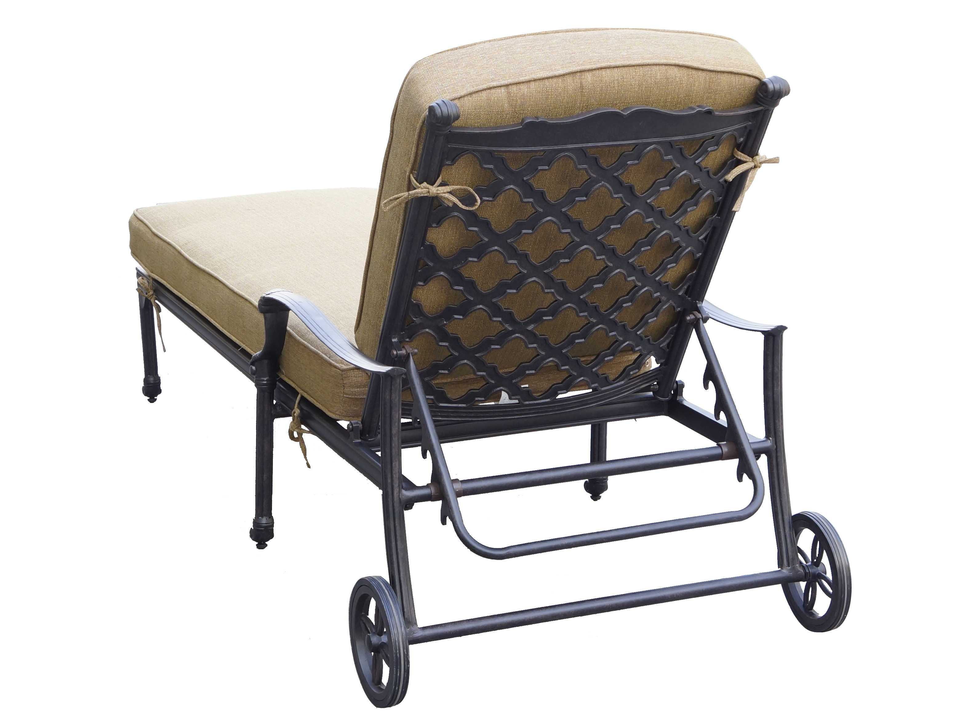 Darlee outdoor living camino cast aluminum antique bronze for Aluminum outdoor chaise lounge