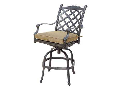 Darlee Outdoor Living Quick Ship Camino Cast Aluminum Antique Bronze Swivel Counter Height Stool