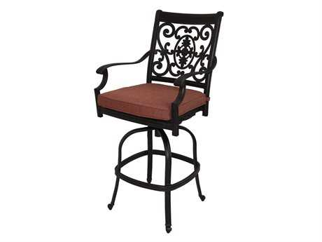 Darlee Outdoor Living Standard St. Cruz Cast Aluminum Antique Bronze Swivel Bar Stool