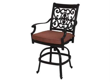 Darlee Outdoor Living Quick Ship St. Cruz Cast Aluminum Antique Bronze Swivel Counter Height Stool