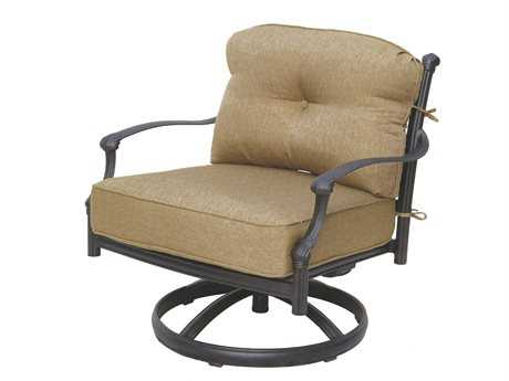 Darlee Outdoor Living Standard Camino Replacement Swivel Rocker Club Chair Seat and Back Cushion PatioLiving