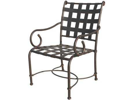 Darlee Outdoor Living Malibu Cast Aluminum Antique Bronze Dining Chair