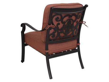 Darlee Outdoor Living Standard St. Cruz Cast Aluminum Antique Bronze Club Chair