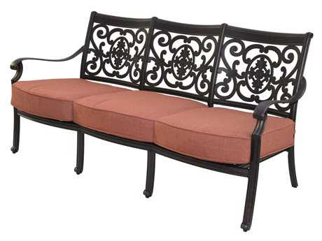 Darlee Outdoor Living Standard St. Cruz Cast Aluminum Antique Bronze Sofa