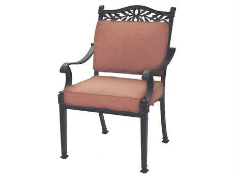 Darlee Outdoor Living Standard Charleston Replacement Dining Chair Seat and Back Cushion PatioLiving