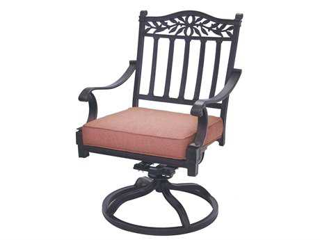 Darlee Outdoor Living Standard Charleston Cast Aluminum Antique Bronze Swivel Rocker Chair